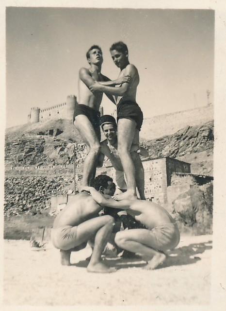 En el azud de San Servando junto al Tajo, años 50. Colección de Tomás García del Cerro