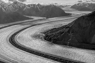 Kluane Glacier BW