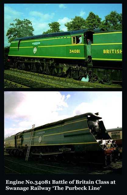 Engine No. 34081 at Swanage Railway 'The Purbeck Line' (2 & 3)