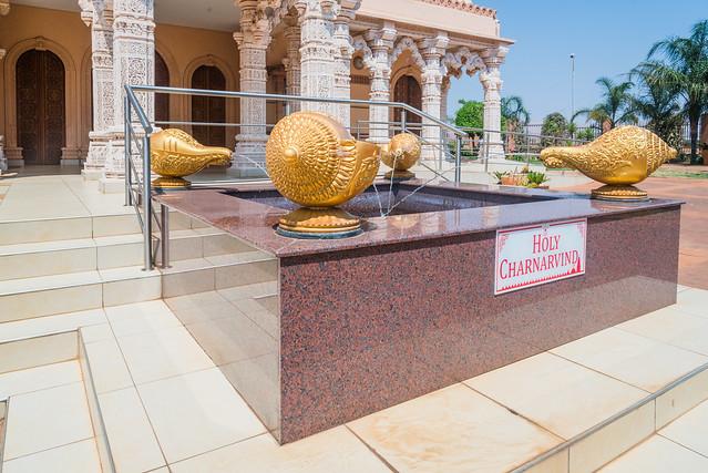 Fountain, Sri Swaminarayan Hindu Temple, Johannesburg