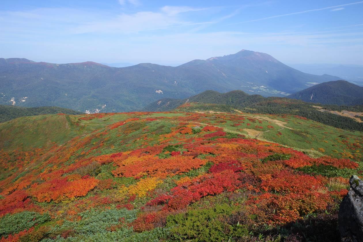 笊森山から眺める紅葉と岩手山