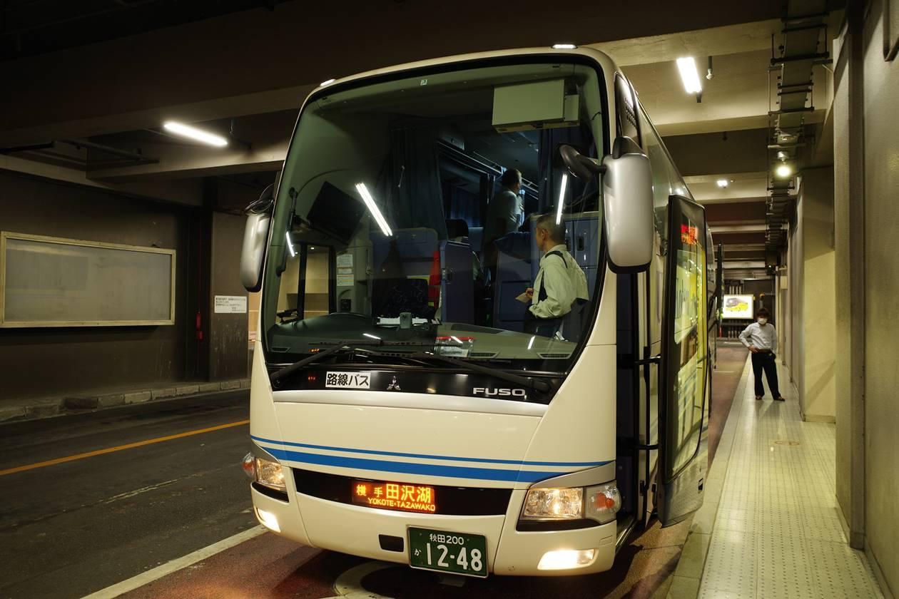 田沢湖行きレイクポート号夜行バス