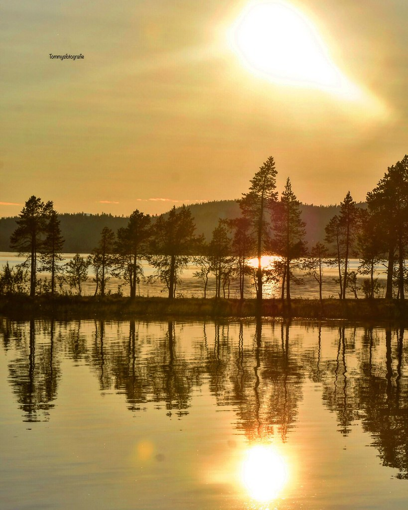 Golden hour at the Femunden lake in the east of Norway