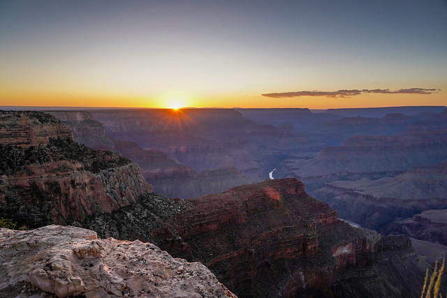 Hopi Point at sunset, the legendary view - Grand Canyon, USA