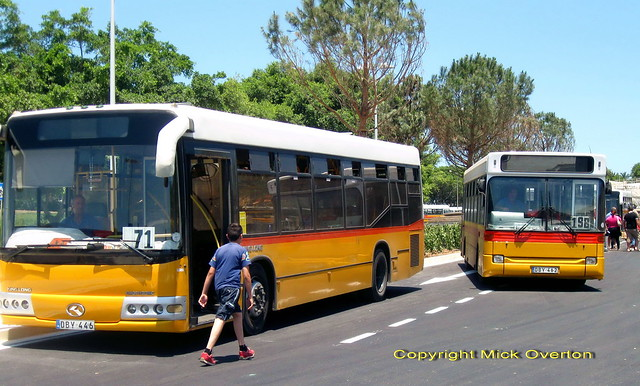 2003 King Long DBY446 + 1997 Dennis Dart DBY462 last week on ATP routes 27.6.2011