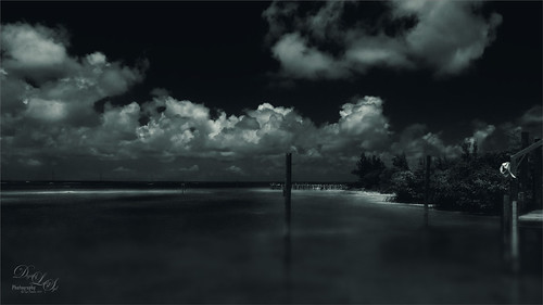 Infrared effect image taken at Green Turtle Cay in The Bahamas