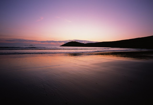 Afterglow, August, Whitesands Bay, South Wales, UK