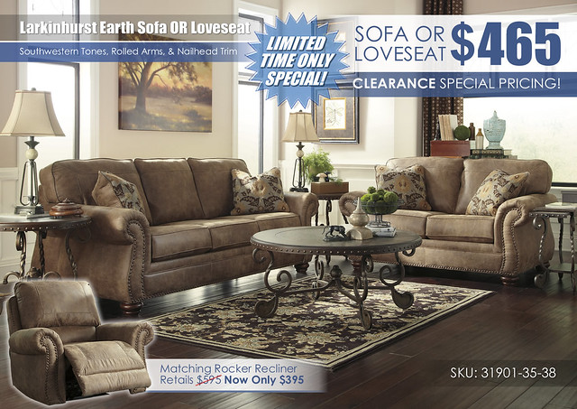 Larkinhurst Earth Sofa OR Loveseat_31901-38-35