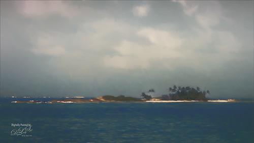 Small island in the Bahamas