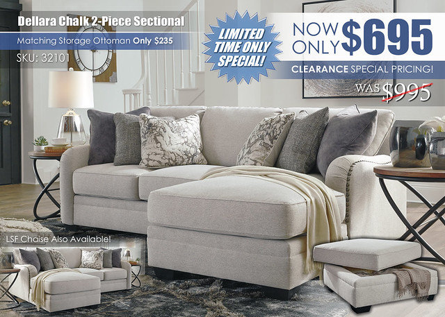 Dellara Chalk 2PC Sectional_Special_32101