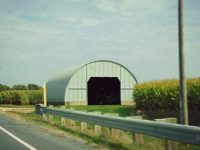 Quonset in the corn.