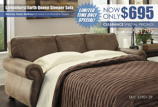 Larkinhurst Earth Queen Sleeper Sofa Special_31901-39
