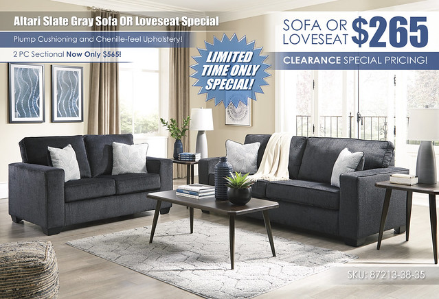 Altari Slate Gray Sofa OR Loveseat Special_87213-38-35-T037