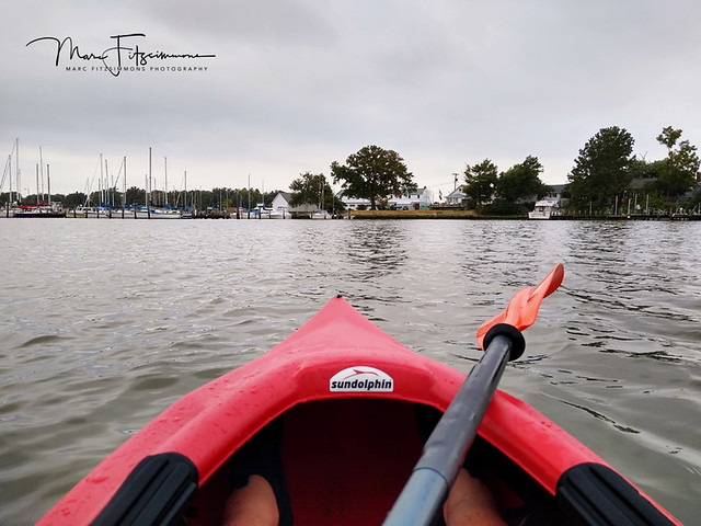 Kayak on Colonial Beach Inlet