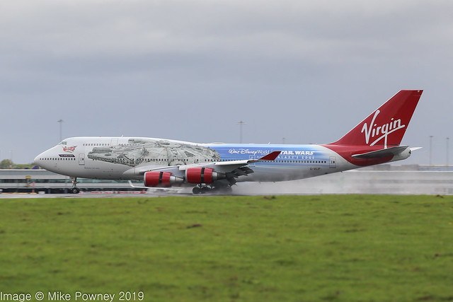 G-VLIP - 2001 build Boeing B747-443, The Falcon arriving for the first time at a saturated Mancherster