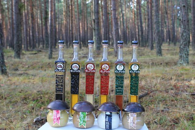 aceites, vinagre, mousses y cremas elfos