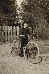 boy with his bicycle ca. 1920