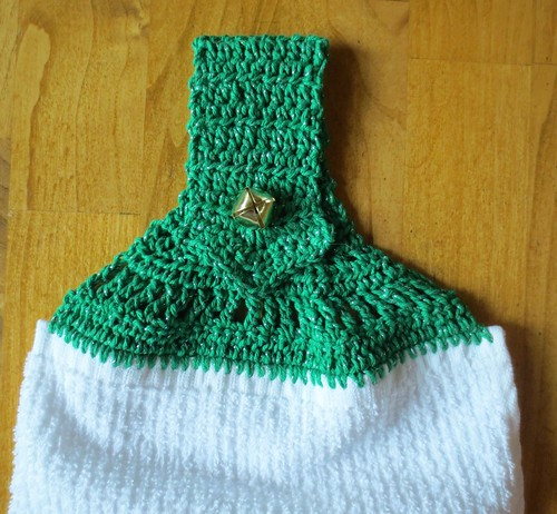 Pointed Handle Jingle Bell Towel Topper
