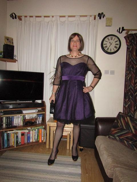 26-9-19 Lindy Bop 'Serephina' Russian Violet Swing Dress (1)
