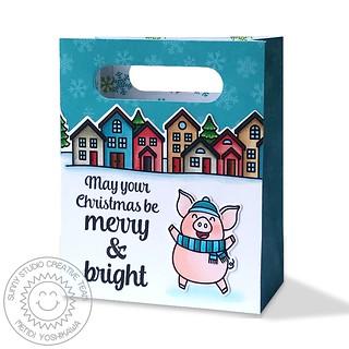 Sunny Studio Sweet Treats Pig Bag-Front