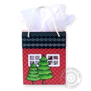 Sunny Studio Sweet Treats House Add-on Christmas Bag-Back