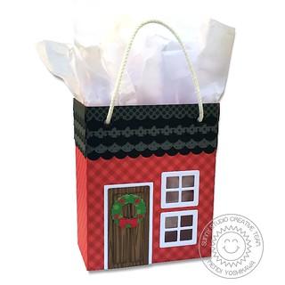 Sunny Studio Sweet Treats House Add-on Christmas Bag-Front