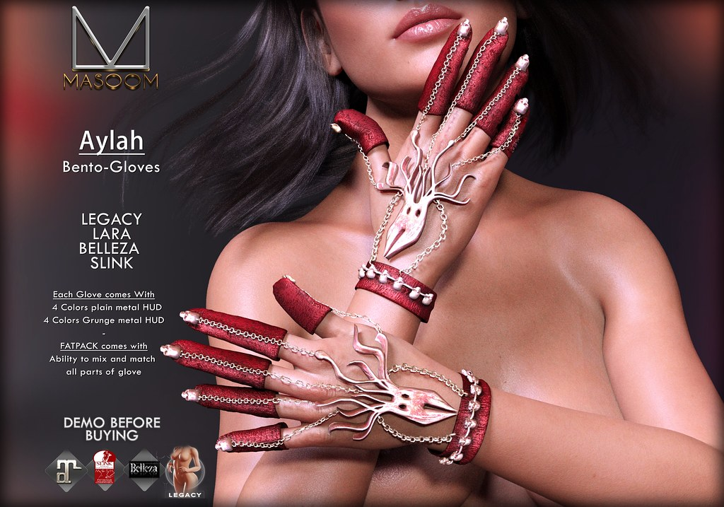 [[ Masoom ]] Aylah Bento gloves @ Salem Event