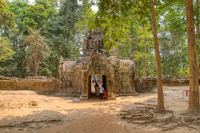 West gate of Ta Som temple ruins near Siem Reap, Cambodia
