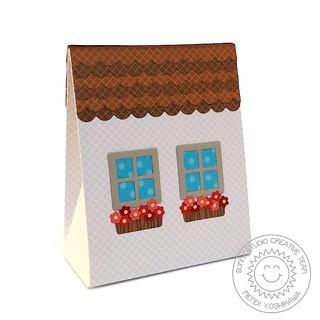 Sunny Studio Sweet Treats House Add-on Everyday Box-Back