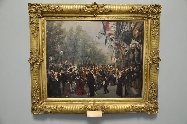 Abreise Koenig Wilhelms I. zur Armee am 31. Juli 1870