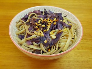 Linguine with Purple Cabbage