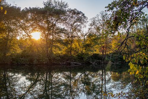 reservoir sunset trees bloomsburg pennsylvania unitedstatesofamerica