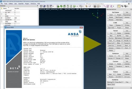Working with BETA CAE ANSA 19.1.4 full license
