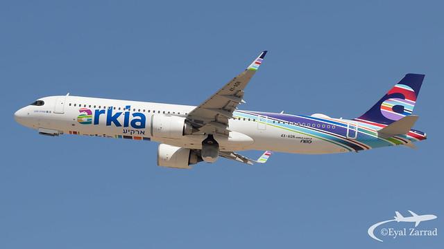 TLV - Arkia Airbus A321NeoLR 4X-AGN