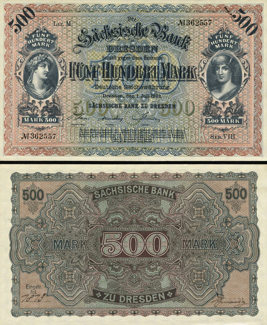 500 Mariek Sasko (Nemecko) 1922, SAX10