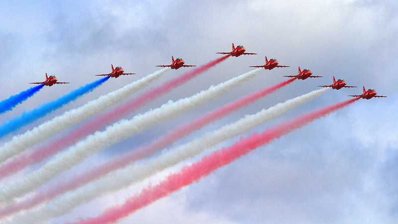 """IMG_5118 RAF Red Arrows """"Stars and Stripes"""""""