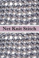 Net Nit Stitch or Filet Net Knit Stitch