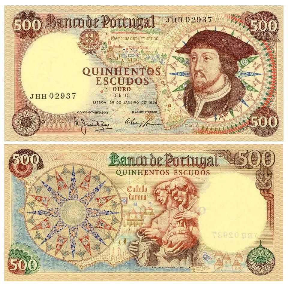 Nota de 500$00, Ch. 10 — D. João II, do Banco de Portugal, em Moedas.Org