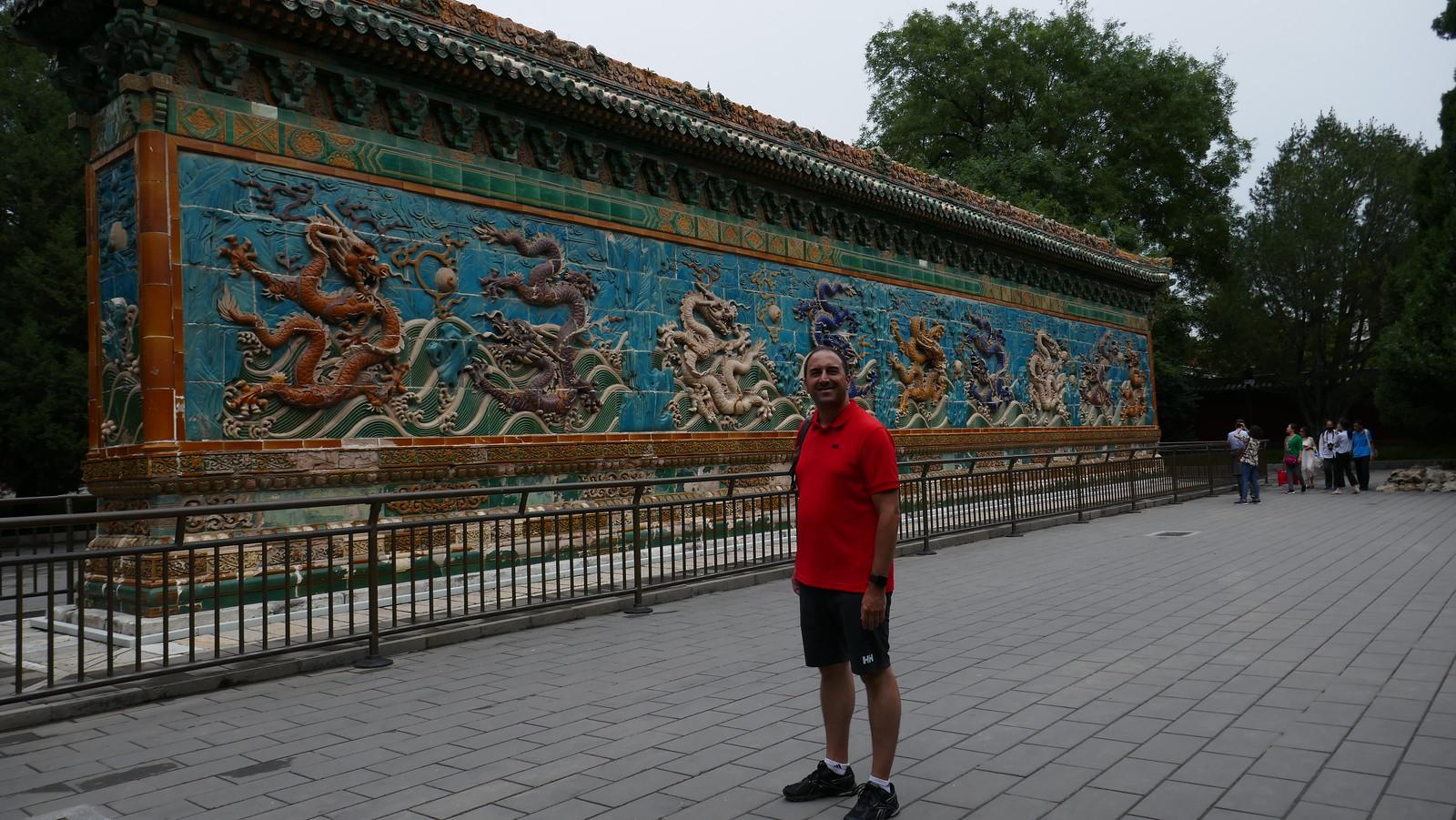 Muro de los 9 Dragones, en Beihai Park