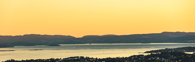 Twilight on the Oslo fjord