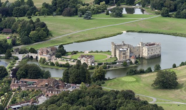 Leeds Castle aerial image - Kent UK