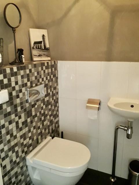 Mozaïek muur toilet landelijk