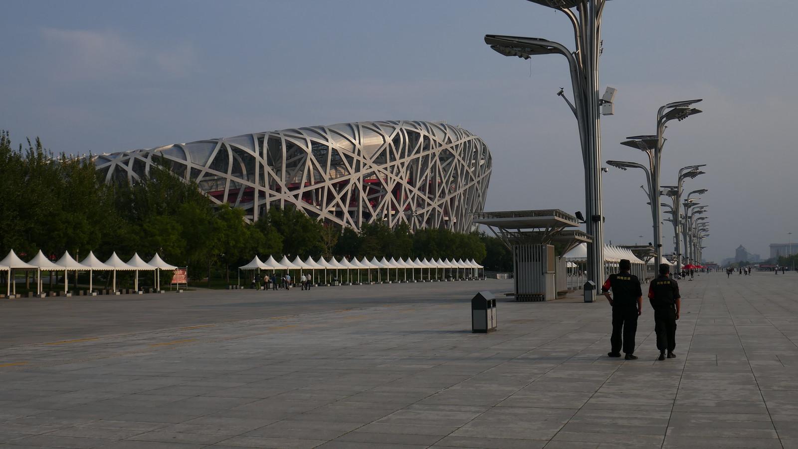 Estadio Nacional de Pekín en el soleado Parque Olímpico