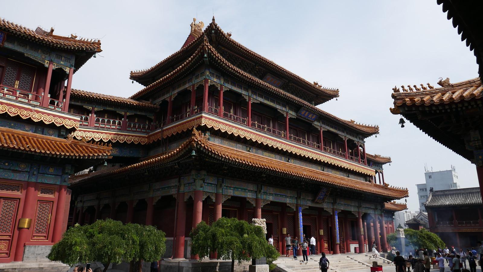 El fabuloso Pabellón Wanfuge en Templo de Yonghe