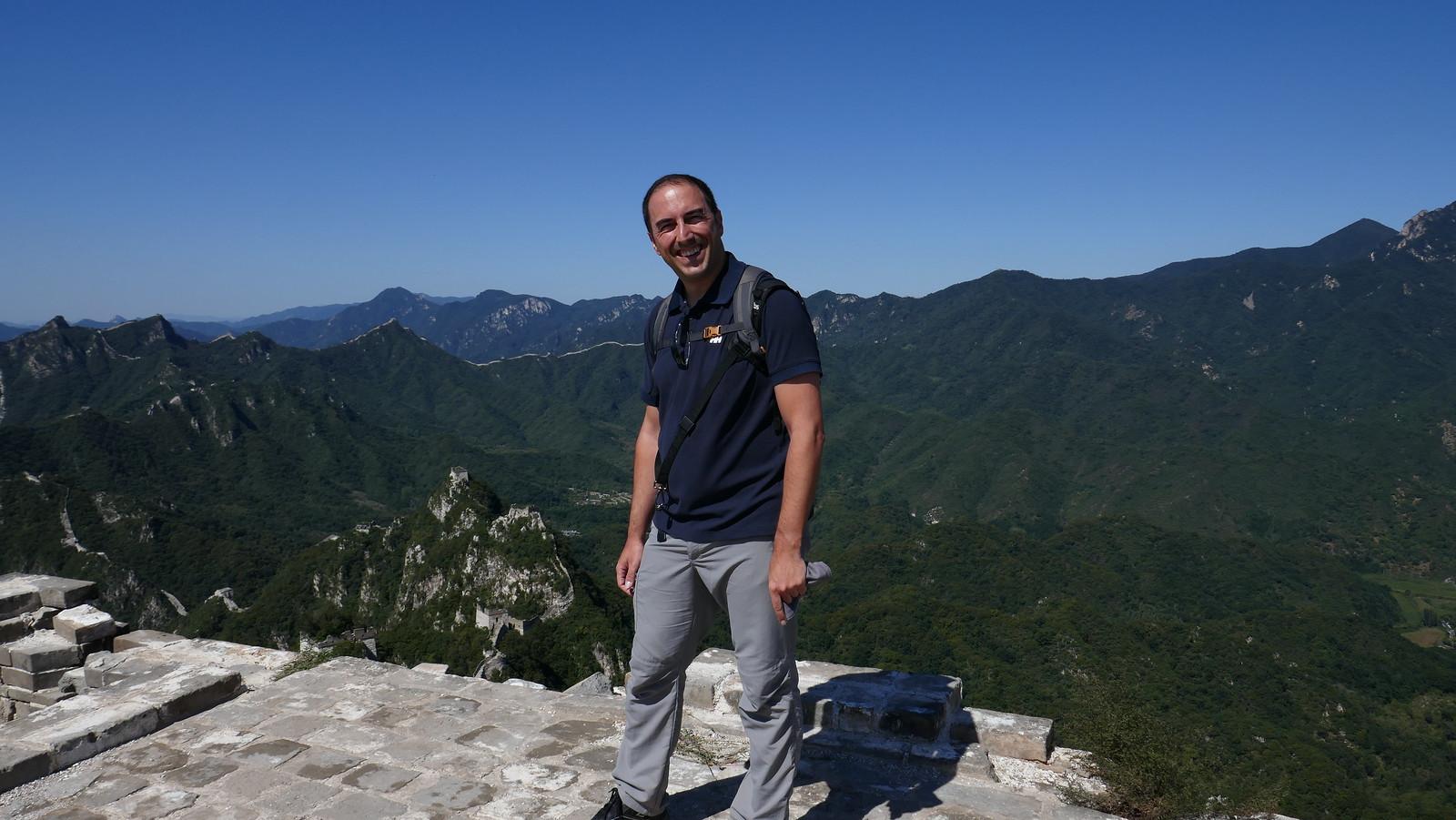 Increíbles vistas desde la Torre de Zhengbeilou, viendo cómo la Gram Muralla continúa hacia el Oeste