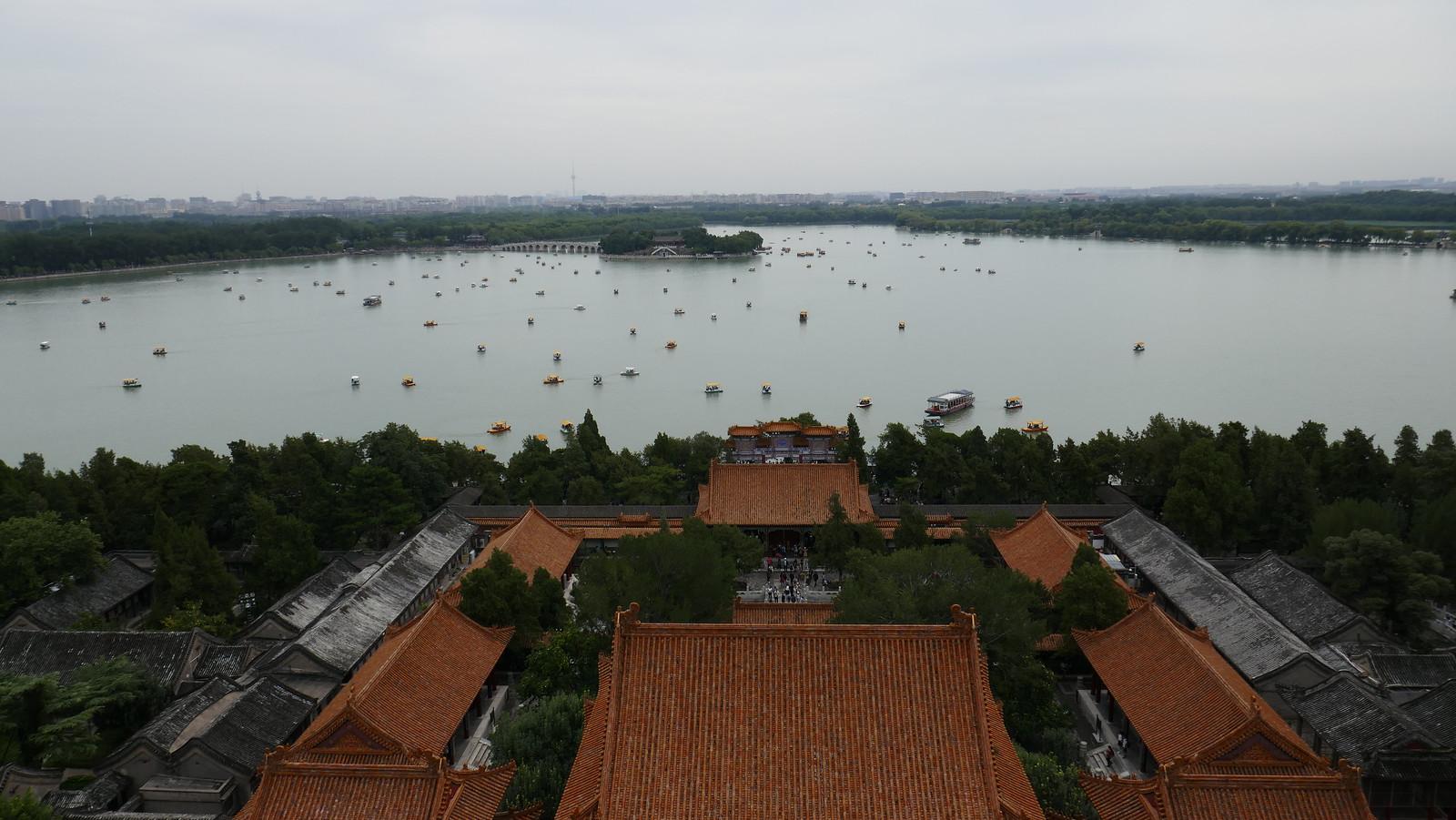 El fantástico Lago Kunming desde lo alto de la Colina de la Longevidad