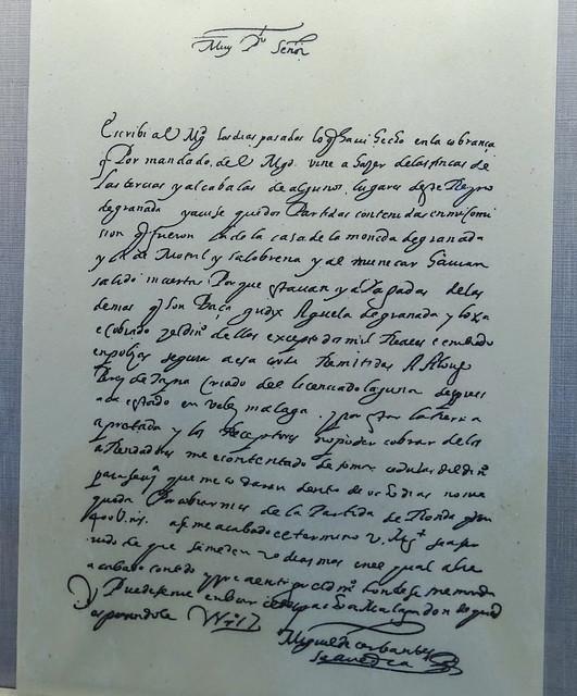 manuscrito documento original de Miguel de Cervantes Casa Cervantes Velez Malaga Málaga 02