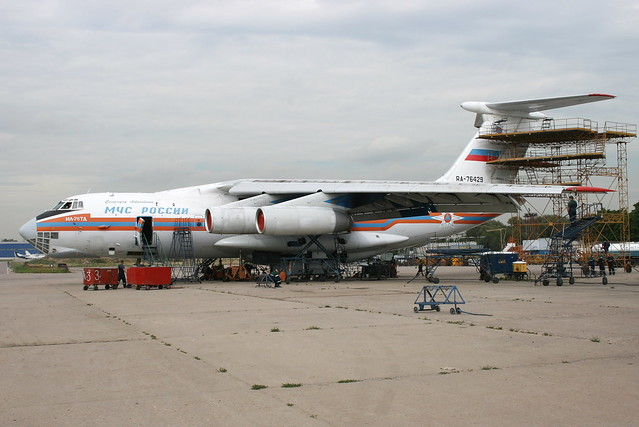 An Ilyushin IL-76TD of MCHS, Russian Ministry of Emergency Situations