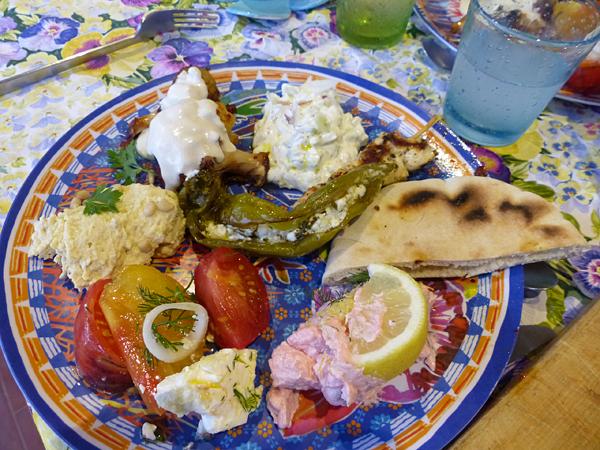 assiette grecque