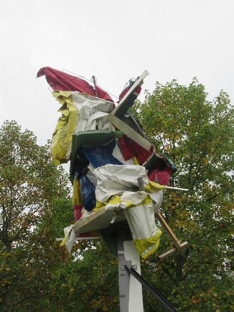 On Hold #9 2019, Peter Buggenhout (Sculptor), Frieze Sculpture Park, English Gardens, Regents Park, Westminster and Camden, NW1, London